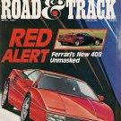 Road & Track April 1987 - Ferrari Corvette Beretta IROC