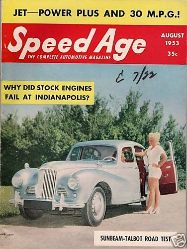 Speed Age August 1953 Sunbeam Talbot Racing Indy Sport