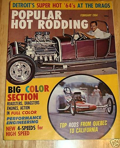 Popular Hot Rodding February 1964 - Roadsters Dragsters