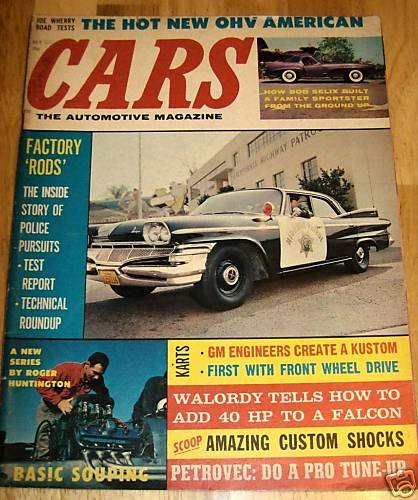 Cars-The Automotive Magazine July 1960 -Police Persuits