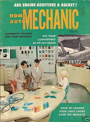 Home Auto Mechanic Apr 1956 Car Magazine Fix Repair Old