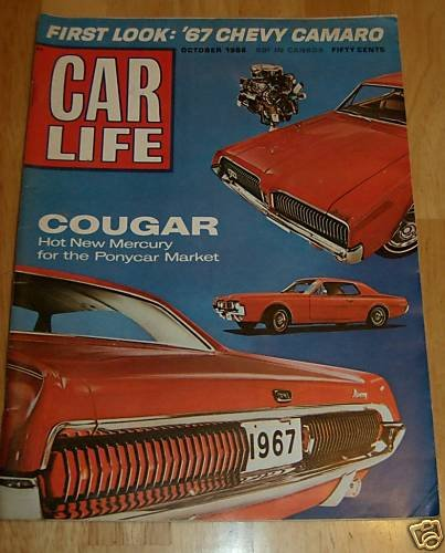 Car Life October 1966 -'67 Cougar, '67 Camaro