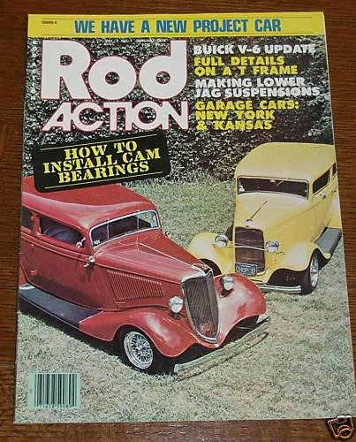 Rod Action January 1978 - 1932 & 1934 Ford
