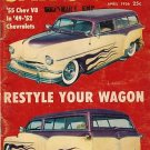 Car Craft April 1956 - Wagon Chevy Lowering Lincoln