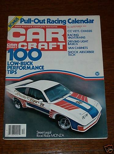 Car Craft Magazine December 1975 - Classic Cars NHRA