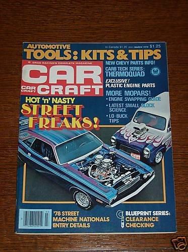 Car Craft Magazine March 1978 - Classic Cars NHRA
