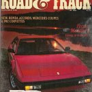 Road & Track November 1981 - Ferrari Accord Corvette MG
