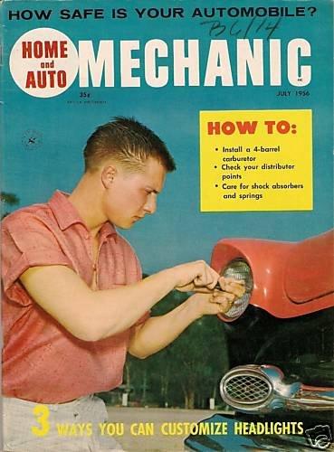 Home Auto Mechanic Jul 1956 Car Magazine Fix Repair Old