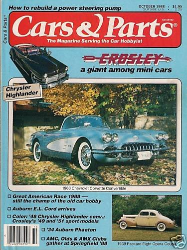 Cars & Parts Magazine 1988 - 1960 Corvette Convertible