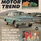 Motor Trend June 1962 - Rambler, Jet-Propelled, Indy