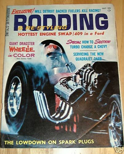 Rodding & Re-Styling July 1965 - Drag Racing