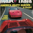 Road & Track August 1987 - Racing Exotics Corvette