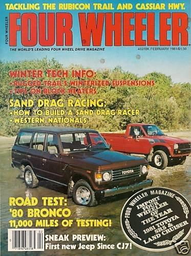 Four Wheeler February 1981 - Bronco Racing Cruiser SR5