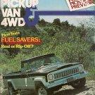 Pickup Van & 4WD August 1978 - El Camino Cruiser Unimog
