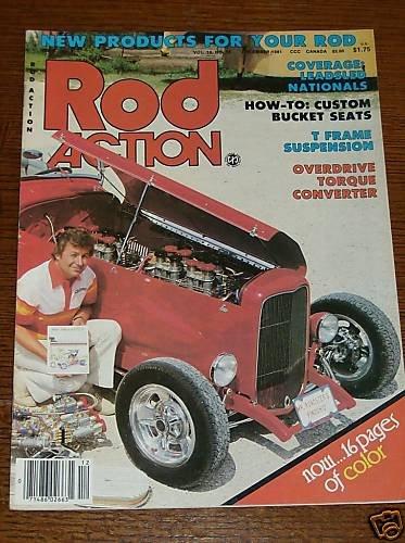 "Rod Action December 1981 - '32 Ford Hiboy ""Pinochio"""