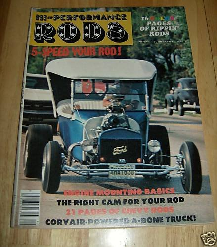 Hi-Performance Rods - Summer 1978 - '39 Chevy, '23 Ford