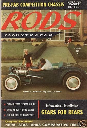 Rods Illustrated February 1959 - 1930 Ford Chevy Race