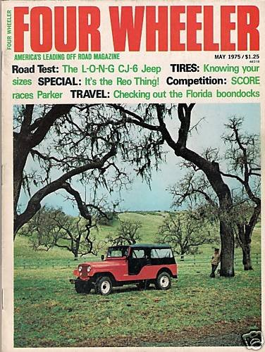 Four Wheeler May 1975 Jeep Baja Reo Land Rover CB Truck