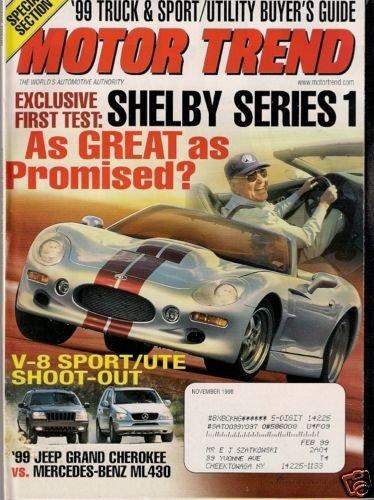 Motor Trend November 1998 - Shelby Truck Sport/Utility