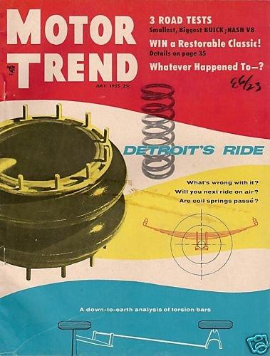Motor Trend July 1955 - Special Roadmaster Ambassador