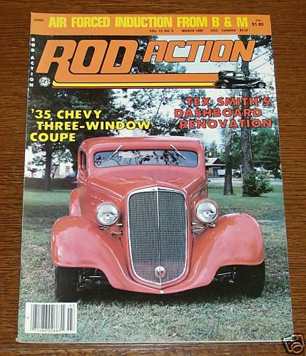 Rod Action March 1984 - 1935 Chevy 3-Window Coupe