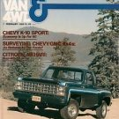 Pickup Van & 4WD February 1980 - Eagle Mehari Wrangler