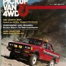 Pickup Van & 4WD July 1980 Fuel Economy Arrow Audi Jeep