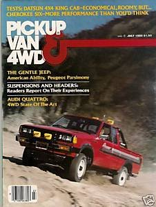 Pickup Van & 4WD July 1980 Fuel Economy Arrow Audi Jeep