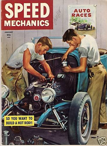 Speed Mechanics January 1953 #1 First Drag Hot Rod Race