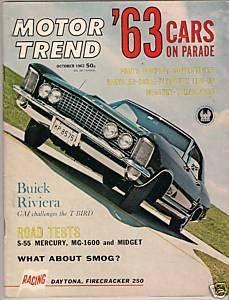 Motor Trend October 1962 - Riviera MG Midget Racing