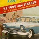 Motor Life November 1956 - Lincoln Ford Borgward T-Bird