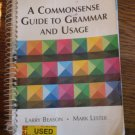 A Commonsense Guide to Grammer and Usage 3rd Edition