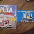 Matchbox books: Dive!, Plow, and 911