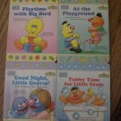 Set of 4 Sesame Street Books
