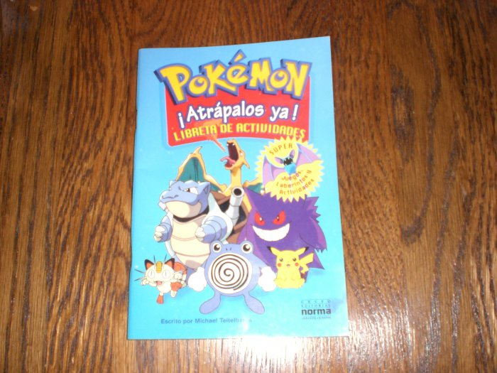 Pokemon activity book in spanish