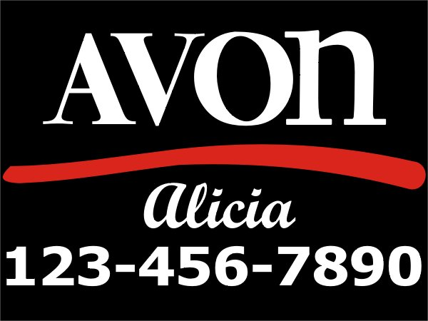 """Avon Removable Cling Decal 12"""" X 6"""""""