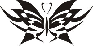 Tribal Butterfly Vinyl Graphic Decal Sticker For Car, Truck Or Van