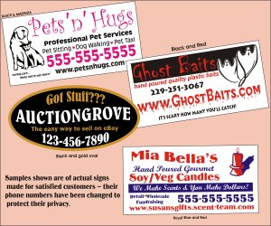 Custom Made 2 Color Magnetic Car Signs Vehicle Sign Magnets For Car Truck Or Van 12x24