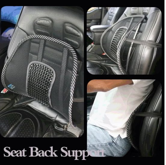 4 NEW MESH MASSAGE BACK LUMBAR SUPPORT CAR SEAT CUSHION