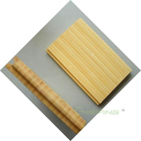Natural vertical bamboo flooring
