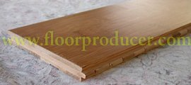 Across bamboo flooring