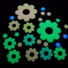 24 Piece Glow in the Dark Multicolor Flowers