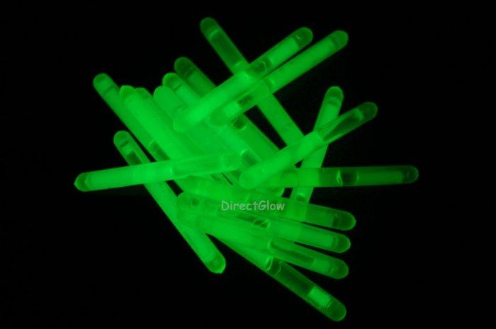 1.5 inch Mini GREEN Glow Stick- 50 per package