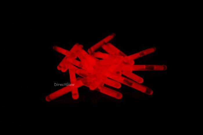 1.5 inch Mini RED Glow Stick- 50 per package