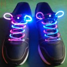 BiColor LED Lighted Shoelaces- Pink/White