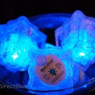 Set of 6 Blue Litecubes Brand Light up LED Ice Cubes