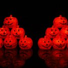 Set of 12 Litecubes LED Light Up Pumpkin Jack O Lantern