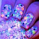 UV Blacklight Reactive Neon Glitter Nail Polish- TGIF