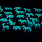 24 Piece Glow in the Dark Safari Animals