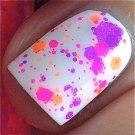 UV Blacklight Reactive Neon Glitter Nail Polish- Chicks Rule